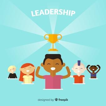 Modern leadership concept