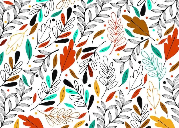 Современный лист узор фона в красочных