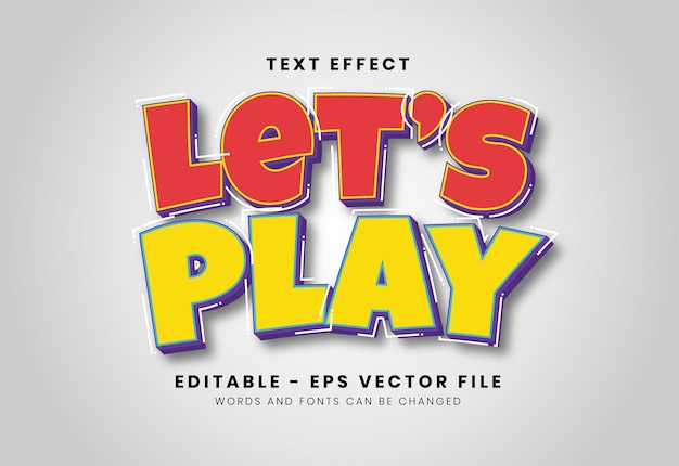 Modern let's play text effect