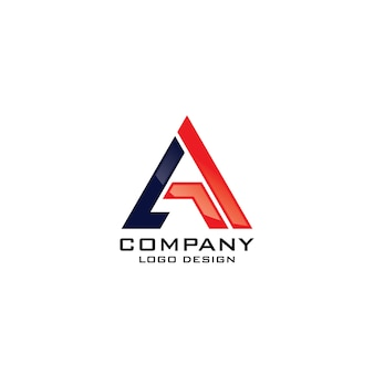 Modern a letter company logo template vector