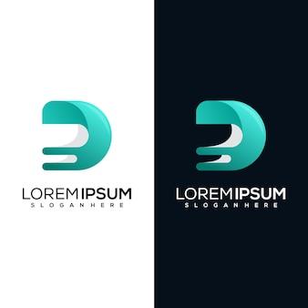現代文字dロゴテンプレート会社、ビジネス、現代