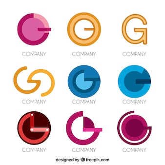 Modern letter g logo collection