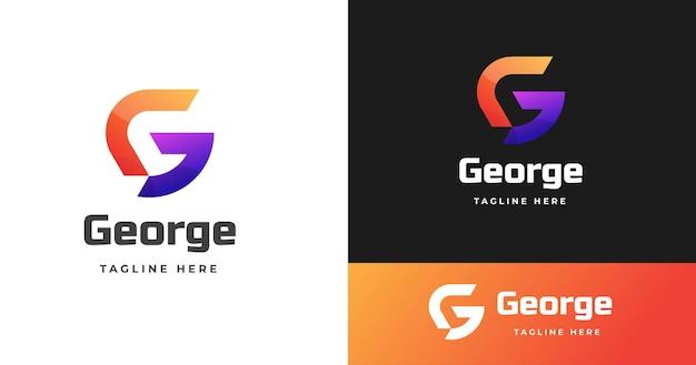 현대 편지 g 로고 디자인 서식 파일