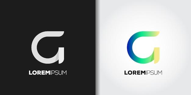 Modern letter g logo set