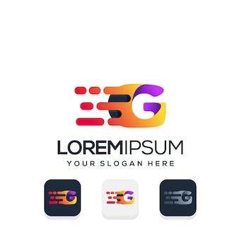 Modern letter g witht tech logo design