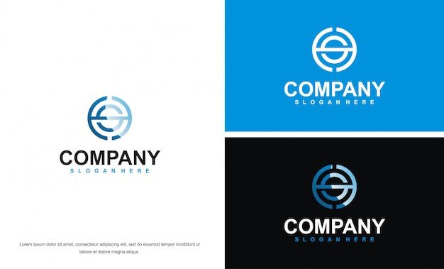Modern letter hs logo design template