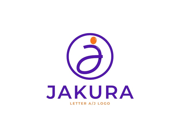 Modern letter a and j logo template
