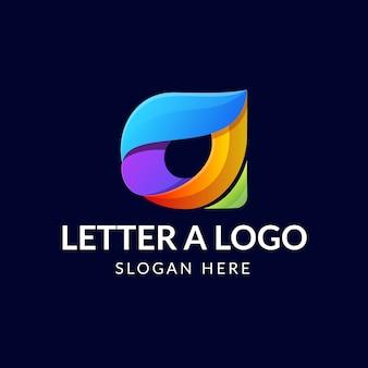 Modern letter a logo concept