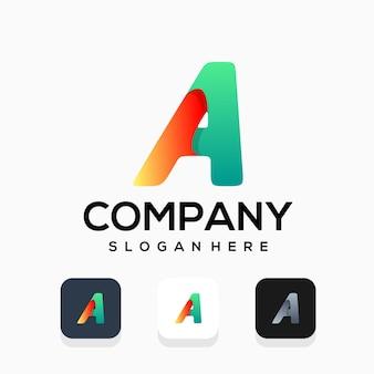 Modern letter a logo design