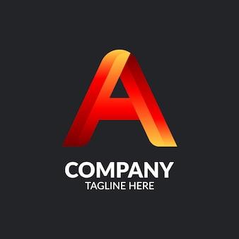 Modern letter a logo template