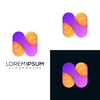 現代文字nロゴデザイン