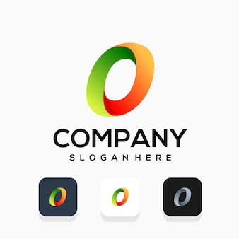 Современный дизайн логотипа буква o