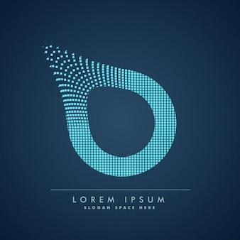 Modern letter p background