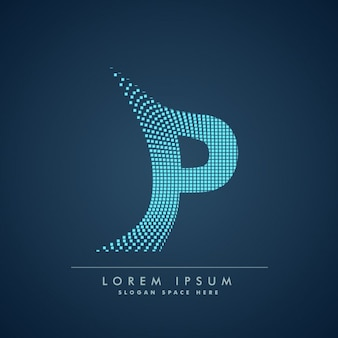 Modern letter p background