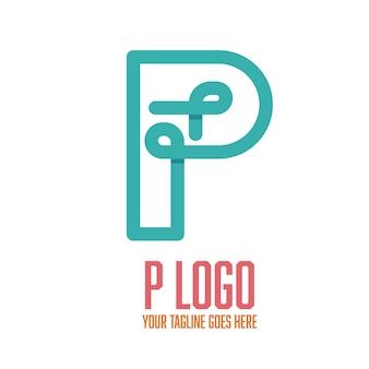 Modern letter p logo