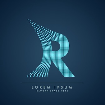 Modern letter r background