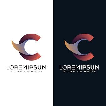 Modern letter r logo design