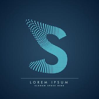 Modern letter s background