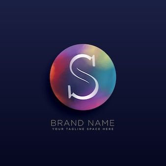 Шаблон абстрактного логотипа S
