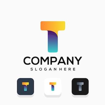 Современный дизайн логотипа буква t