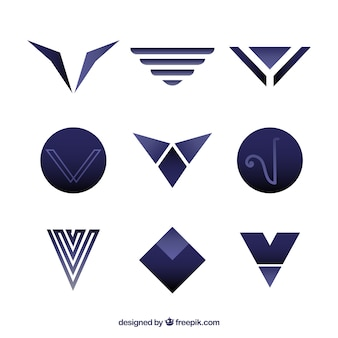 Initial V Vectors Photos And Psd Files Free Download