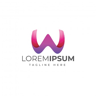 Modern letter w logo template