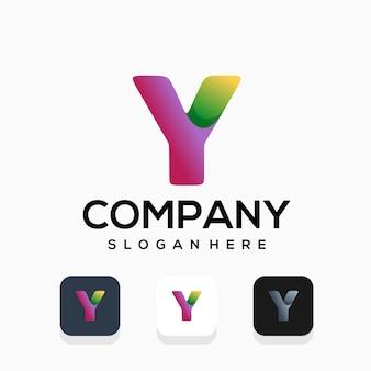 현대 편지 y 로고 디자인