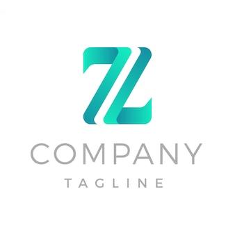 Современная буква z градиент логотип