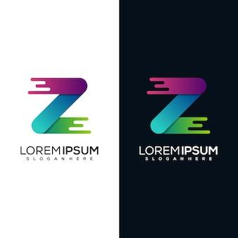 Modern letter z logo design