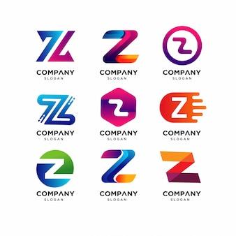 Шаблоны логотипов modern letter z