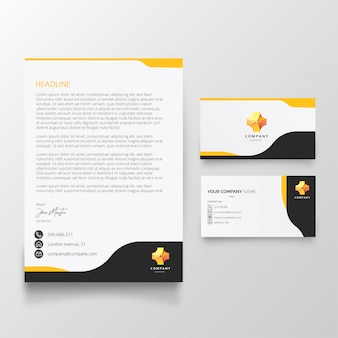 Modern letterhead and business card template