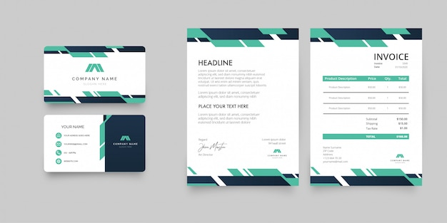 Modern letterhead business pack template