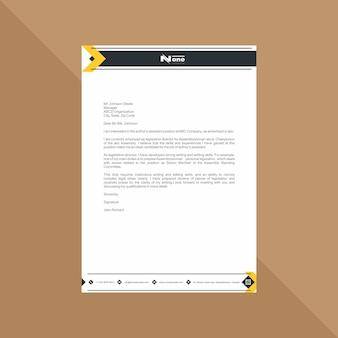 Современные бланки в желтых и серых геометрических фигурах