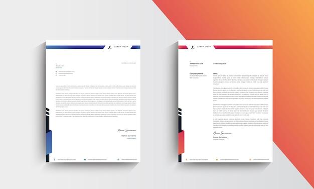 Modern letterhead template design. vector