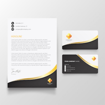 Modern letterhead with elegant shapes
