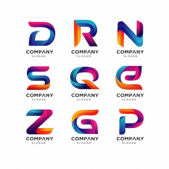 Modern letters d r n logo templates