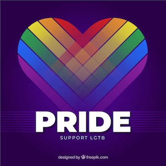 Modern lgtb pride background with heart