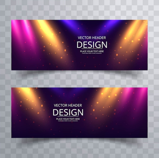 Modern lights banners