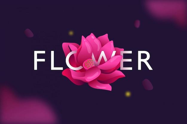 Modern lili flower art banner and poster background