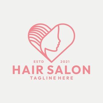 Modern line art beauty hair salon vector