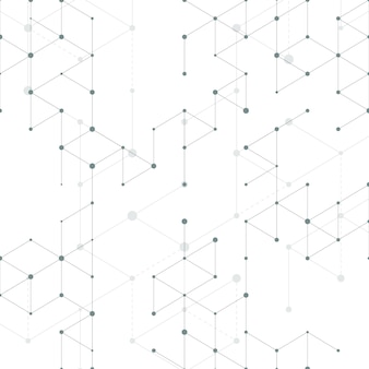 Modern line art seamless pattern with connecting lines. connection structure. technology, digital network concept