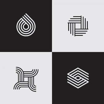 Modern line logos. creative geometric shapes.