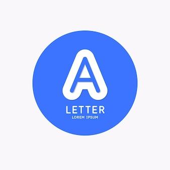 현대 선형 로고와 편지에 서명