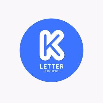 현대 선형 로고 및 기호 k