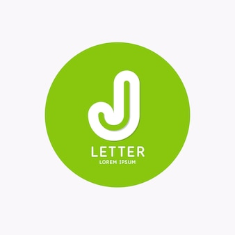 Modern linear logo and sign the letter j