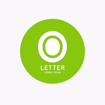 Modern linear logo and sign the letter o