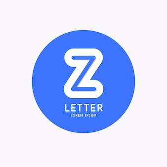 Modern linear logo and sign the letter z