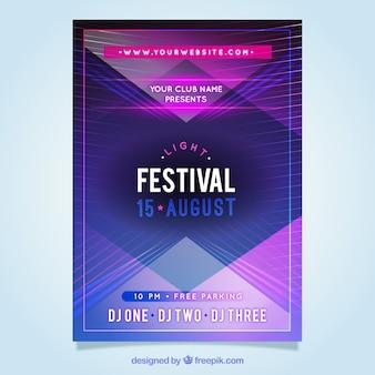 Modern lines brochure of festival
