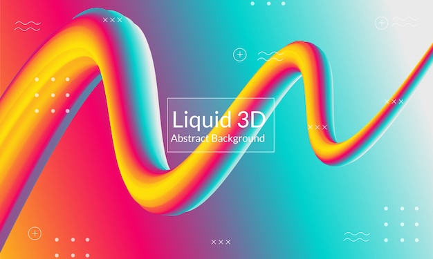 Modern liquid absract background