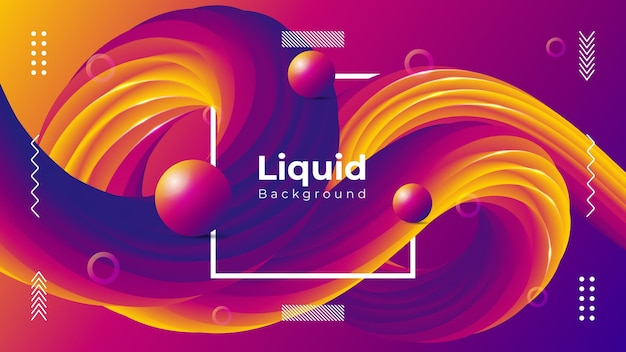 Modern liquid background with realistic colorful shapes